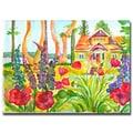 Trademark Fine Art Wendra 'Cottage Garden' Canvas Art 35x47 Inches