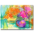 Trademark Fine Art Wendra 'Window Bouquet' Canvas Art 35x47 Inches
