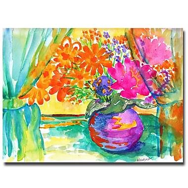 Trademark Fine Art Wendra 'Window Bouquet' Canvas Art 24x32 Inches