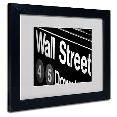 Trademark Fine Art Yale Gurney 'Wall Street Next' Matted Art Black Frame 11x14 Inches