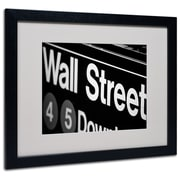 Trademark Fine Art Yale Gurney 'Wall Street Next' Matted Art Black Frame 16x20 Inches