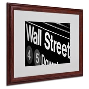 Yale Gurney 'Wall Street Next' Matted Framed Art - 16x20 Inches - Wood Frame