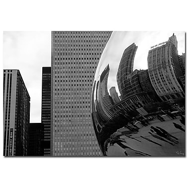 Trademark Fine Art Elastic Skyline by Yale Gurney-Canvas Art Ready to 22x32 Inches