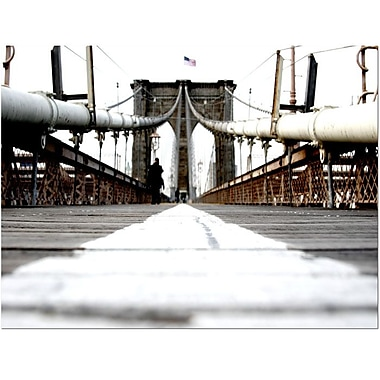 Trademark Fine Art Yale Gurney 'Brooklyn Bridge' Canvas Art 14x19 Inches