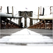 Trademark  Fine  Art Yale Gurney 'Brooklyn Bridge' Canvas Art 14x19 Inches