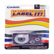Casio® XR9WES 9 mm Black on White Label Printer Tape For CWL-300