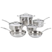 Cuisinart Chef's Classic 10-Piece Stainless Steel Cookware Set, Silver
