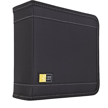 Case Logic® Nylon 32 CD Wallet, Black, Each