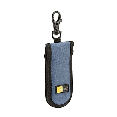 Case Logic® Neoprene 2 USB Flash Drive Shuttle, Blue, Each