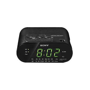 Sony ICFC218 Single Alarm Clock Radio, Black