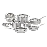 Cuisinart® MultiClad Pro 12 Piece Stainless Steel Cookware Set, Silver