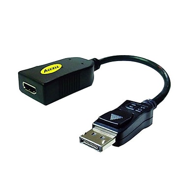 Accell® UltraAV® 7 3/4in. DisplayPort to HDMI Passive Adapter Cable