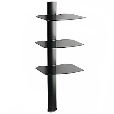Omnimount® TRIA Black 3-Shelf Wall System