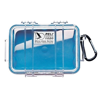 Pelican 1020-026-100 Micro Case for Small Accessories, Clear/Blue