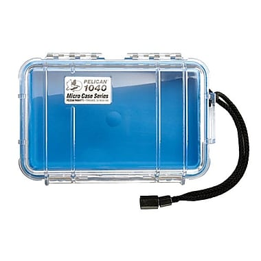 Pelican™ 1040 Micro Case For Cell Phone, PDA, iPod, Pager, Clear/Blue