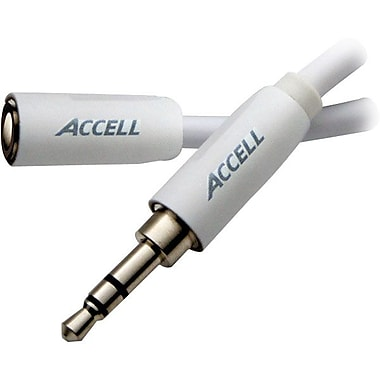 Accell® 3.5 mm Male to 3.5 mm Female Extension Cable For iPod/iPhone/iPad