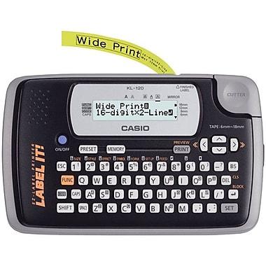 Casio® KL-120L 0.24 in/s Portable Thermal Label Maker, 200 dpi
