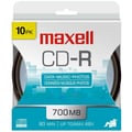 Maxell® 700MB CD-R, Hanging Spindle, 10/Pack