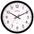 Geneva Commercial Wall Clock, Black