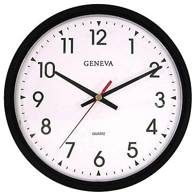 Geneva Commercial Wall Clock, Black