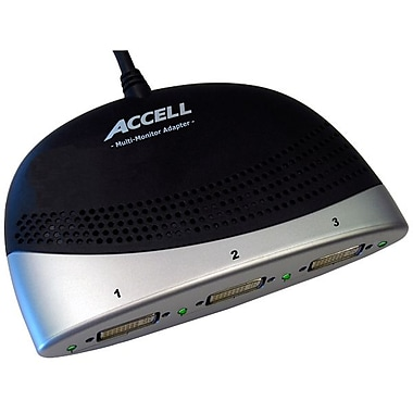 Accell K087B-005B 3.75' USB/DisplayPort to DVI-D Multi-Monitor Adapter Cable, Black