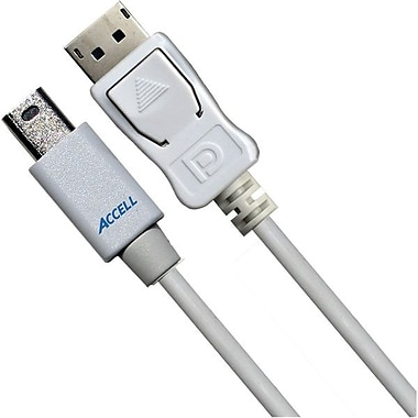 Accell® UltraAV® 6.56' Mini DisplayPort to DisplayPort Version 1.1a Cable, White