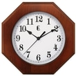 Geneva 9152G Wood Analog Wall Clock, Brown