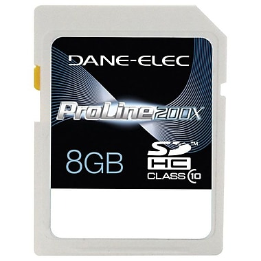 Dane-Elec 8GB SDHC (Secure Digital High Capacity) Class 10 Flash Memory Card