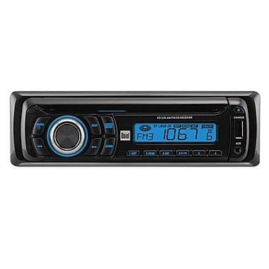 Dual® XD1225 In-Dash Single Din AM/FM CD Player With Front Panel Aux Input and USB Charging Port