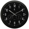 Geneva Plastic Wall Clock, Black