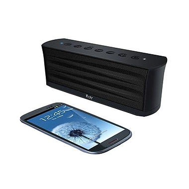 iLuv® MobiOut™ iSP233 Rechargeable Splash-Resistant Bluetooth Stereo Speaker With Microphone, Black