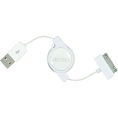 Accell® 2.6' Sync/Charge USB Cable For iPad/iPod/iPhone, White