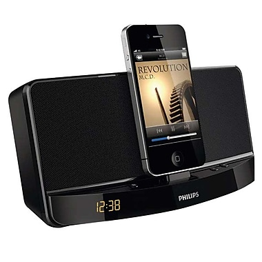 Philips AD300/37 Docking Speaker For iPod/iPhone, Clock Display