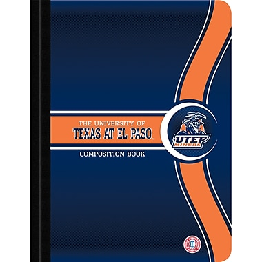 Turner Licensing® Utep Miners Composition Notebooks, 9 3/4in. x 7 1/2in.
