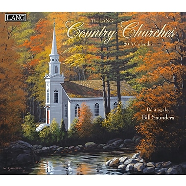 LANG® Country Churches 2014 Wall Calendar