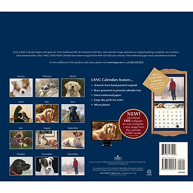 LANG® Love Of Dogs 2014 Wall Calendar