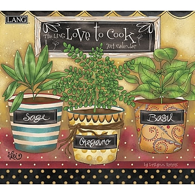 LANG® Love To Cook 2014 Wall Calendar