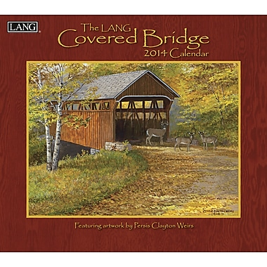 LANG® Covered Bridge 2014 Wall Calendar