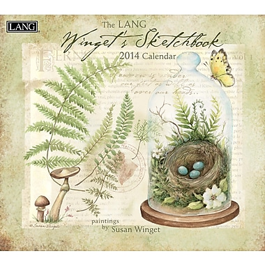 LANG® Winget's Sketchbook 2014 Wall Calendar