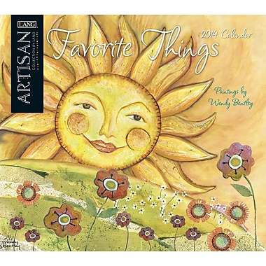 LANG® Artisan Favorite Things 2014 Wall Calendar
