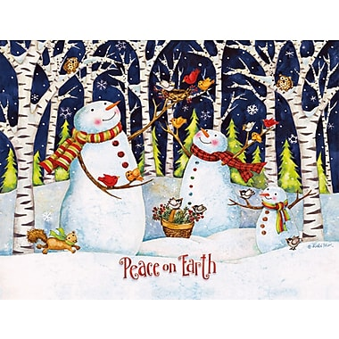 LANG® Birch And Snowmen Boxed Christmas Cards