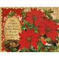 LANG® Poinsettia And Holly Boxed Christmas Cards