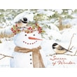 LANG® Chickadee Snowman Boxed Christmas Cards