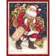 LANG® Snowy Night Santa Boxed Christmas Cards