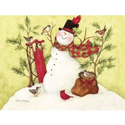 LANG® Snowman Sled Boxed Christmas Cards