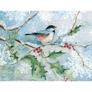 LANG® Chickadee With Holly Boxed Holiday Cards