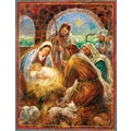 LANG® Manger Assorted Christmas Card, 2/Set