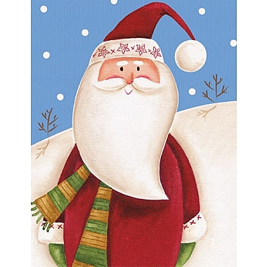 LANG® Santa And Snowman Assorted Boxed Christmas Cards, 2/Set