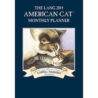 LANG® American Cat 2014 Monthly Planner