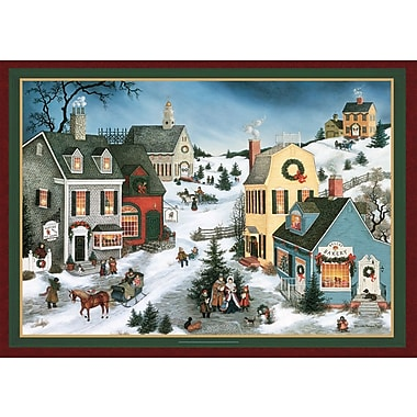 LANG® Folk Art Christmas Boxed Photo Christmas Cards